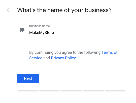 Confirm your Google My Business name