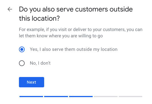 Do you serve customers in other areas