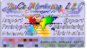 Example of a business card with missing information