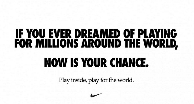 Nike ad for corona virus