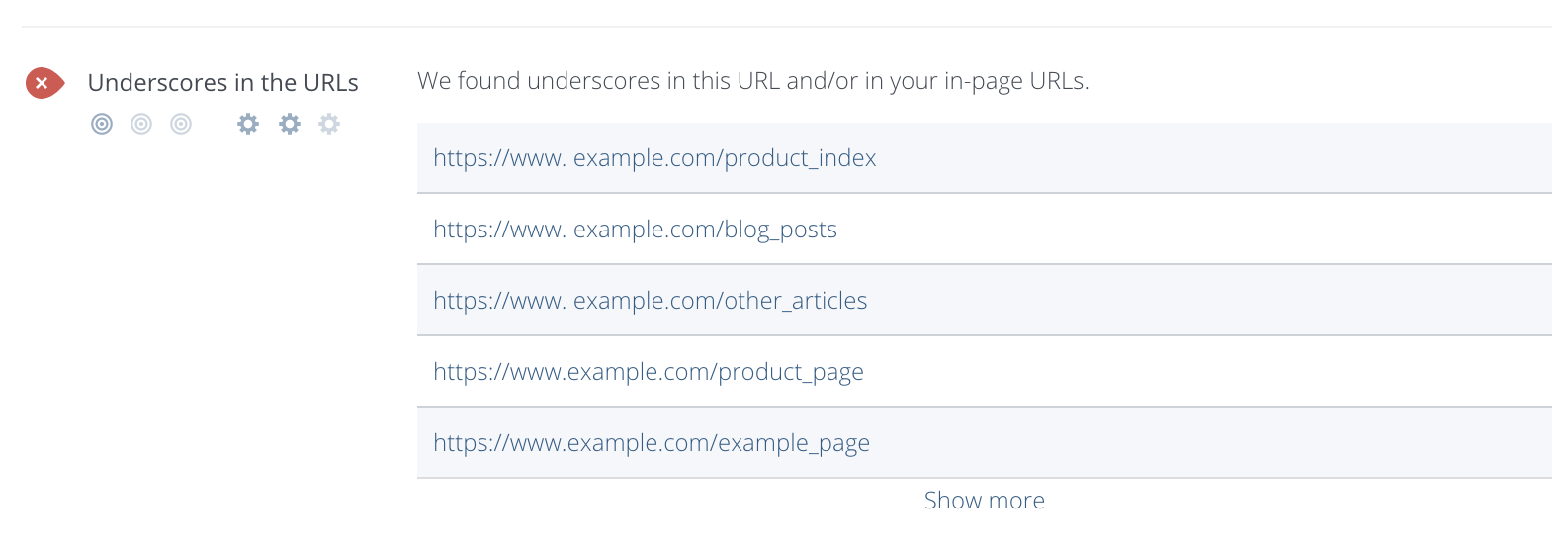 Underscores in URLs Checker