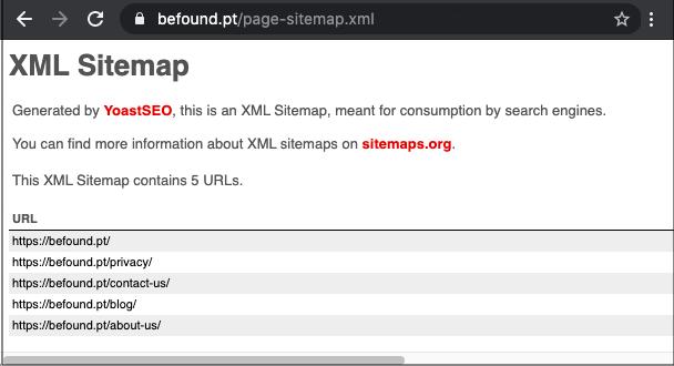 XML Sitemap file