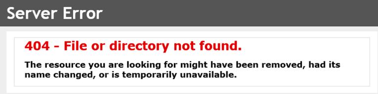 Página 404 común