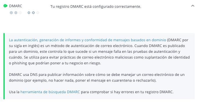 Criterio Dmarc de WooRank