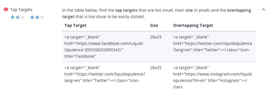 WooRank tap targets