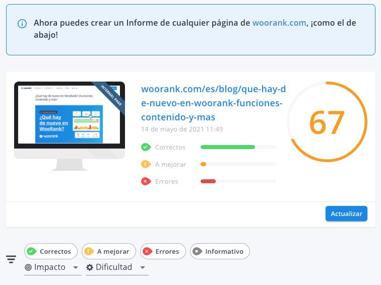 WooRank Extension Internal Page Reviews