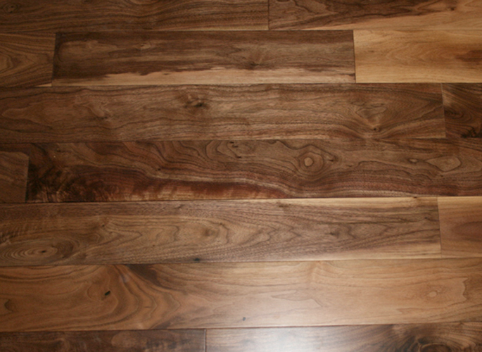 American black walnut wide plank engineered unfinished for Unfinished walnut flooring