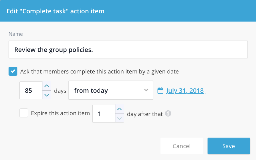 Complete task action item for group communication.png