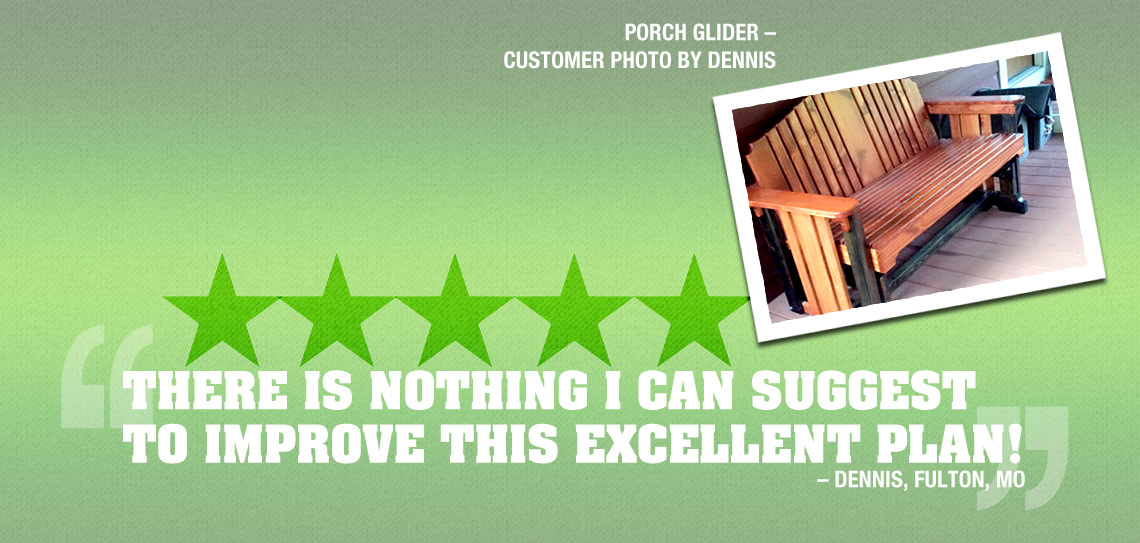 5 Star Review for the Porch Glider