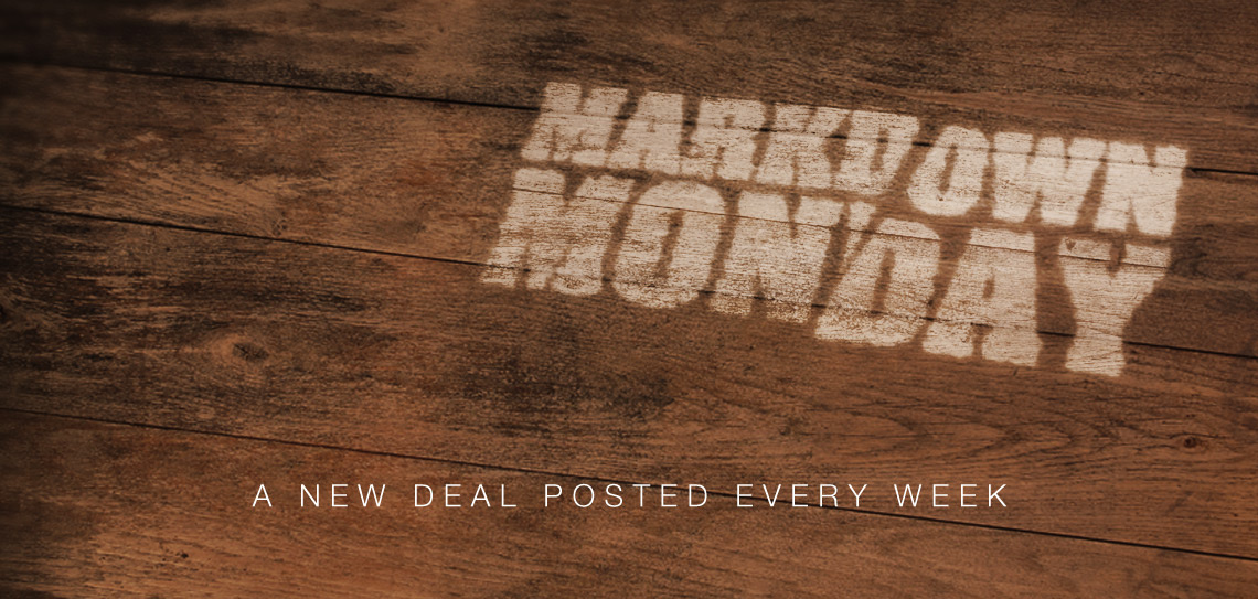 Check back every Monday for another great deal!