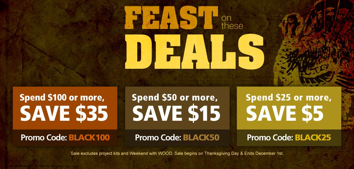 WOOD® Store Black Friday Sale