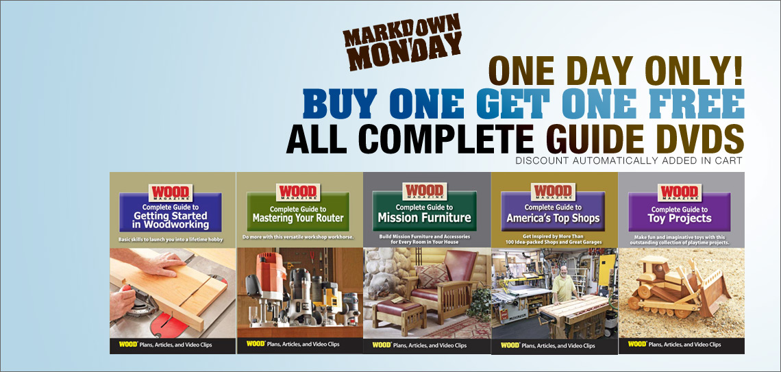 Markdown Monday: Buy one Get one Free on Complete Guide DVDs