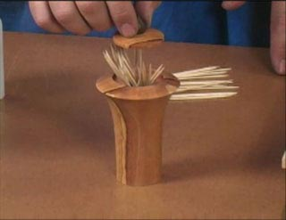 Turned Toothpick Dispenser Woodworking Plan, Turning Videos