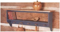 Country Collection Wall Shelf Woodworking Plan, Furniture Bookcases & Shelving