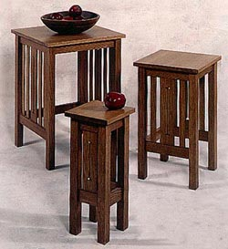Arts and Crafts Nesting Tables Woodworking Plan, Furniture Tables