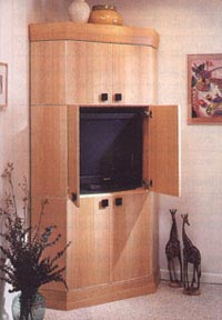 Corner Entertainment Center Woodworking Plan, Furniture Entertainment Centers