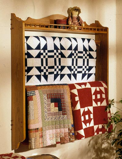 Quilt Showcase Woodworking Plan, Furniture Quilt Displays