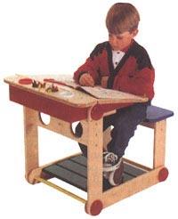 Activity Center Desk Woodworking Plan, Toys & Kids Furniture Furniture Desks