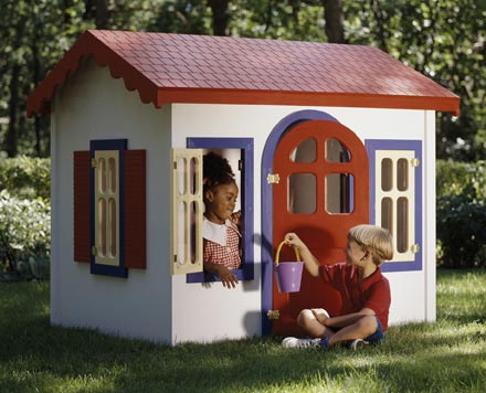 Country Cottage Playhouse Woodworking Plan, Toys & Kids Furniture