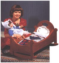 Sweet-Dreams Doll Cradle Woodworking Plan, Toys & Kids Furniture