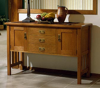 Arts and Crafts Buffet Woodworking Plan, Furniture Cabinets & Storage