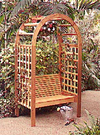 Garden Arbor Woodworking Plan, Outdoor Backyard Structures Outdoor Outdoor Furniture