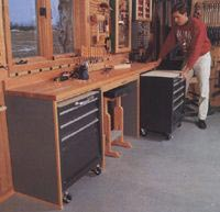 Space-Saving Workbench Woodworking Plan, Workshop & Jigs Workbenches