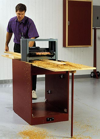 Portable Planer Thicknessing Center with Easy-Does-It Tool Mover Woodworking Plan, Workshop & Jigs Tool Bases & Stands