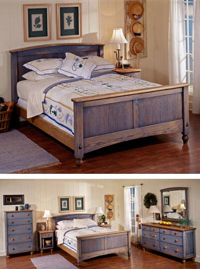Country fresh solid oak bed woodworking plan from wood - Woodworking plans bedroom furniture ...