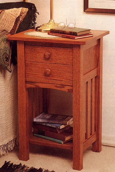 Arts and Crafts End Table/Nightstand Woodworking Plan, Furniture Tables