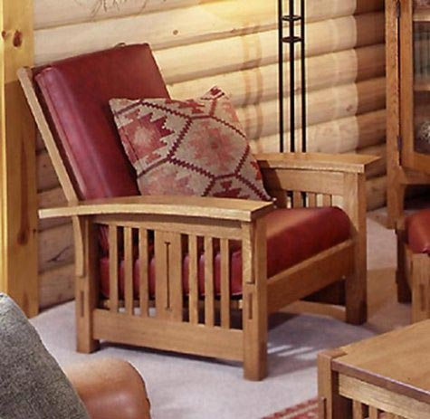 Arts and Crafts Morris Chair Woodworking Plan, Furniture Seating