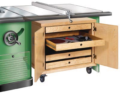 Tablesaw Accessories Cabinet Woodworking Plan, Workshop & Jigs Shop Cabinets, Storage, & Organizers