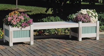 Classic Planter & Bench Woodworking Plan, Outdoor Outdoor Furniture Outdoor Planters