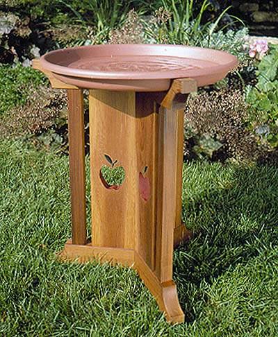 Birdbath Beauty Woodworking Plan, Outdoor For Birds & Pets