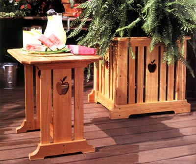 Patio Table & Planter Woodworking Plan, Outdoor Outdoor Furniture Outdoor Planters