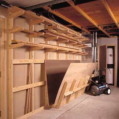 Lumber Storage Rack Woodworking Plan, Workshop & Jigs Shop Cabinets, Storage, & Organizers