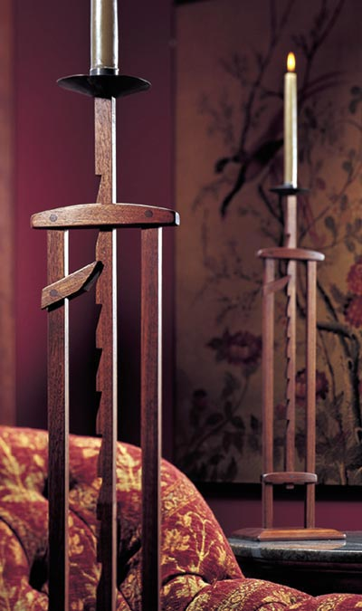Ratcheting Candlestand Woodworking Plan, Gifts & Decorations Lighting