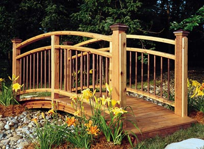 Arched Garden Footbridge