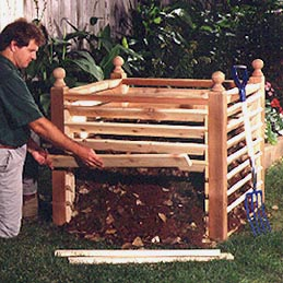 Compost Crib Woodworking Plan, Outdoor Gardening