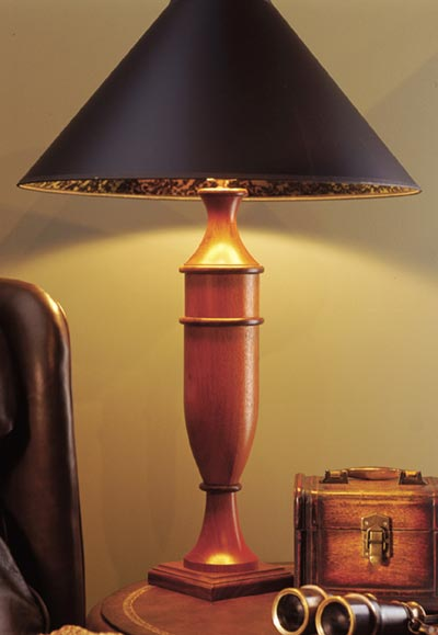 Turned Table Lamp Woodworking Plan, Gifts & Decorations Lighting Turning Projects