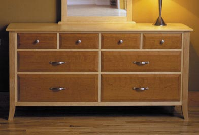 Maple & Cherry Eight-Drawer Dresser Woodworking Plan, Furniture Beds & Bedroom Sets