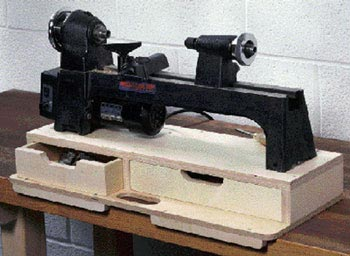 Portable Mini-Lathe Base Woodworking Plan, Workshop & Jigs Tool Bases & Stands