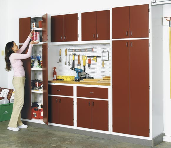 Utility Cabinet System for your Basement or Garage Woodworking Plan, Workshop & Jigs Shop Cabinets, Storage, & Organizers