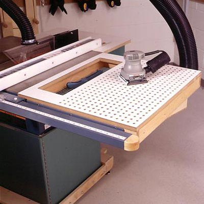 tablesaw sanding table woodworking plan from wood magazine. Black Bedroom Furniture Sets. Home Design Ideas