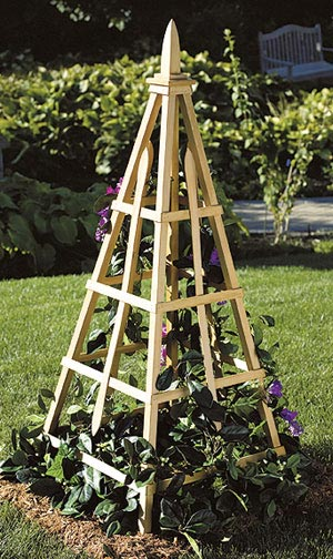Flower Tuteur Woodworking Plan, Outdoor Planters