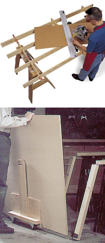 Cutting Platform & Sheet Goods Mover Woodworking Plan, Workshop & Jigs Workbenches