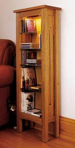 Arts and Crafts CD & DVD Storage Rack Woodworking Plan, Furniture Cabinets & Storage