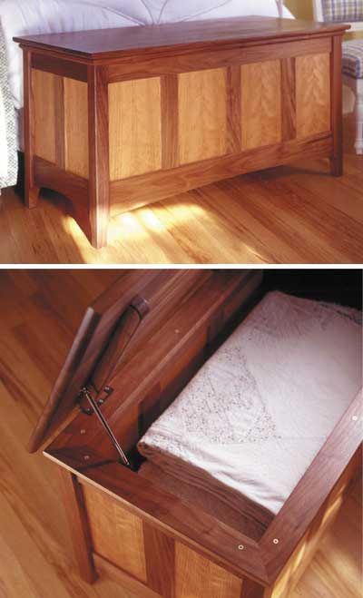 Hope Chest Plans ~ Heirloom hope chest woodworking plan from wood magazine