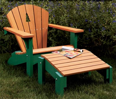 Adirondack Chair & Footstool Woodworking Plan, Outdoor Outdoor Furniture