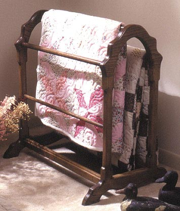 Country Classic Quilt Rack Woodworking Plan, Furniture Quilt Displays